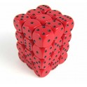 Red with Black - Opaque Polyhedral 36 Dice Set