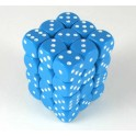Light Blue w/white - Opaque Polyhedral 36 Dice Set