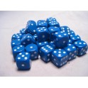 Blue w/white - Opaque Polyhedral 36 Dice Set