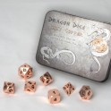 Metal Dice Set - Shiny Copper (7 Dice)