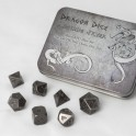 Metal Dice Set - Antique Silver (7 Dice)