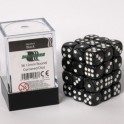 Blackfire Dice Cube - 12mm D6 36 Dice Set - Marbled Black