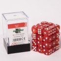 Blackfire Dice Cube - 12mm D6 36 Dice Set - Marbled Red