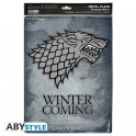 "GAME OF THRONES - Metal plate ""Stark"""