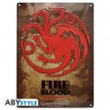 "GAME OF THRONES - Metal plate: ""Targaryen"""