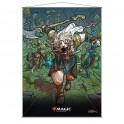 Stained Glass Wall Scroll MtG: Ajani