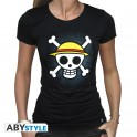 """One Piece T-shirt """"Skull with map"""" Woman - Small"""