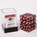 Blackfire Dice Cube - 12mm D6 36 Dice Set - Marbled Pearlized Red