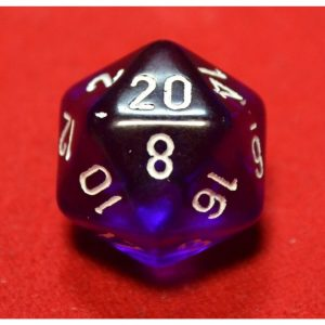 Purple with White Translucent Polyhedral 7 - Die Set