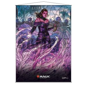 Stained Glass Wall Scroll MtG: Liliana