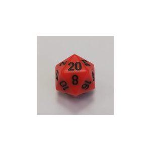 Orange w/black Opaque Polyhedral 7-Die Set
