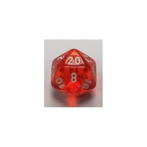Orange w/white Translucent Polyhedral 7 - Die Set