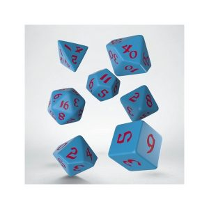 Classic Runic Blue & red Dice Set