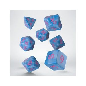 Classic Runic Glacier & pink Dice Set