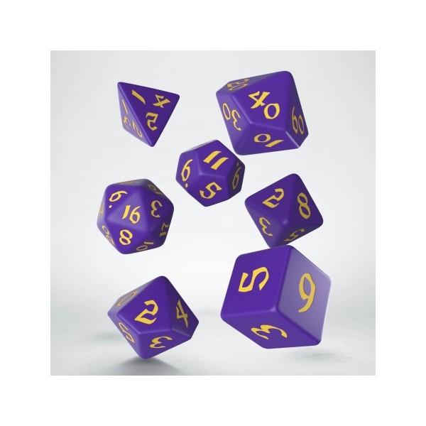 Classic Runic Purple & yellow Dice Set