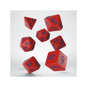 Classic Runic Red & blue Dice Set