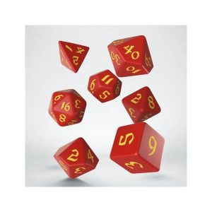 Classic Runic Red & yellow Dice Set